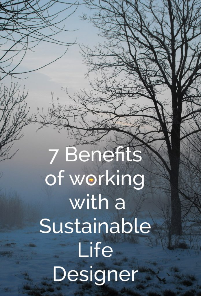 7 benefits of working with a sustainable life designer.