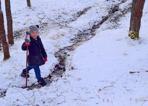 winter walk in Romania